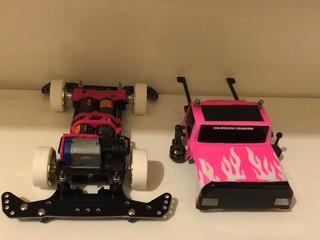 pink truck 80%