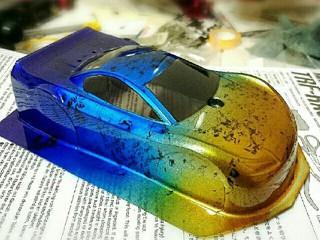 TRF チタン焼け風グラデーション+ラップ塗装