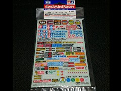 Mini 4wd logo sticker set A