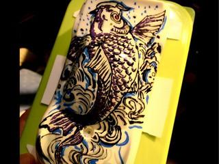 アート滝登り 鯉