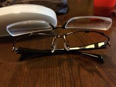 眼鏡を掛けると速くなる