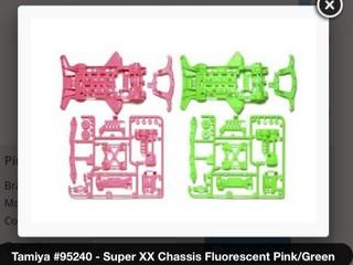 スーパーXX蛍光カラーシャーシ ピンクグリーン