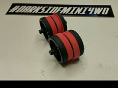 carbon wheel with red spongtire + tire