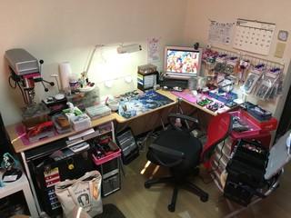 自宅の工作スペース