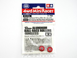 13mmオールアルミベアリングローラー(レッド)
