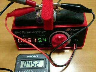 【検証②】ジーフォース ミニブレークインシステム 電圧設定値と実電圧誤差について