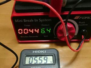 【検証③】ジーフォース ミニブレークインシステム 電圧設定値と実電圧誤差について