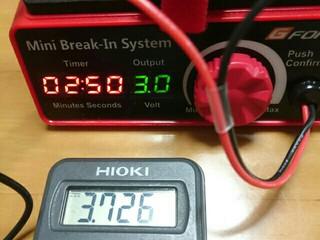 【検証④】ジーフォース ミニブレークインシステム 電圧設定値と実電圧誤差について