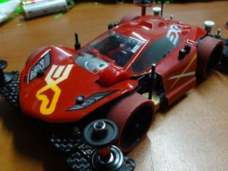 紅色的跑車