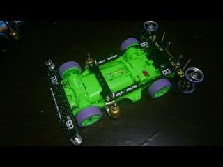 蛍光グリーンAR仮組。