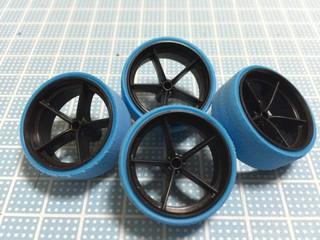 ハードバレルタイヤ(ブルー)&カーボン強化大径ナローホイール ペラタイヤ化