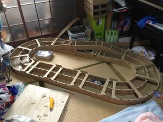 手作り段ボールホームサーキット