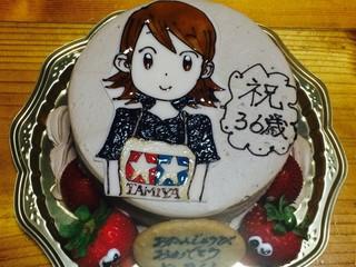 予感的中!バースデーケーキ!狂2