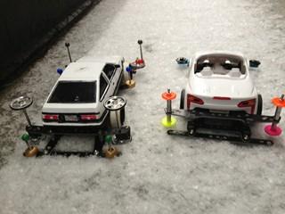 雪が降ったから遊んだ!