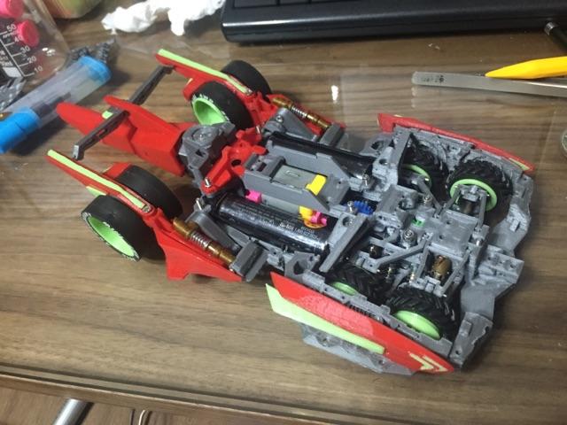 3DPrinter 六轮车底盘结构定型
