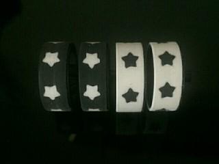 五星内嵌黑白拼胎