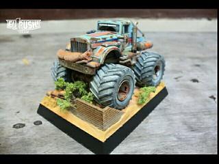 Rusted Bullhead JR on Diorama