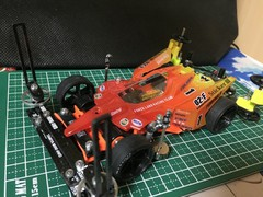 新しいボディとペラタイヤ作った(^O^)
