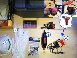 Portable Dremel for Carbon Fiber Safety