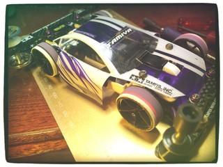 チBaキラ:フレキ 白×紫TRF