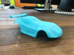 3Dプリンターでミニ四駆作りました