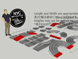 3D files for 3 lane track
