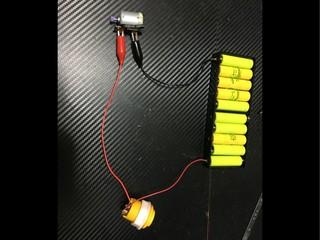 自作押しボタン式モーター慣らし機