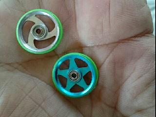蛍光グリーン プラリングアルミローラー 手作り