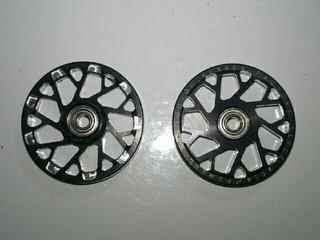 19mmオールアルミ 黒アルマイト マシニングローラー
