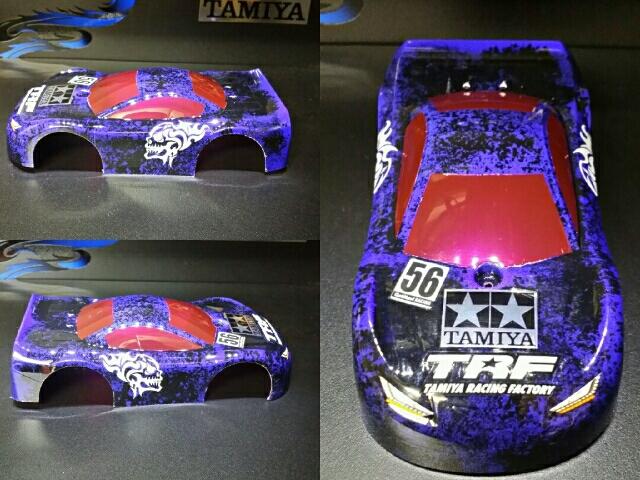 TRFワークスJr .紫x黒スポンジ塗装?