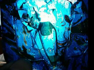 最終形バンキッシュ マーブル ブルー&ブラック