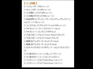 全日本ホビーショー発表パーツ