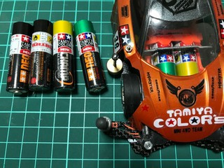 TAMIYA COLOR MINI 電池