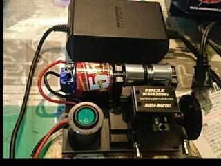 改造タイヤセッター(ミニ四駆専用・ミニ旋盤機)移動用 AC/DCアダプター使用