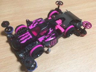 【MS flexible-AS】黒×ピンク アスチュート