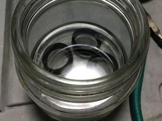 海苔の佃煮の瓶で、漬け物。