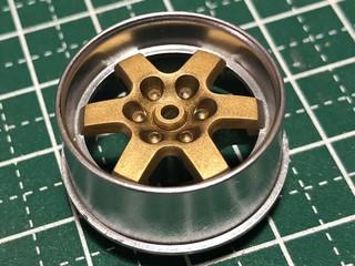 6本スポーク 大径ホイール 2 ゴールド×メッキ調シルバー
