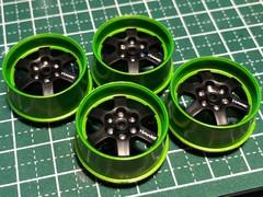 6本スポークホイール3 キャンディライムグリーン×セミグロスブラック