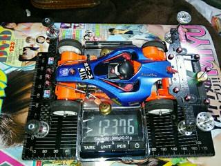 動物乗せ電池込125グラム以下レース用マシン