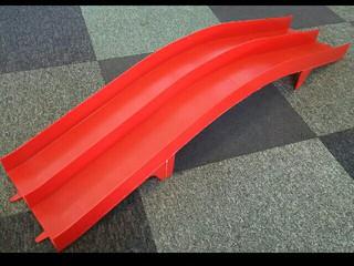 スロープ 3レーン➡2レーン改造