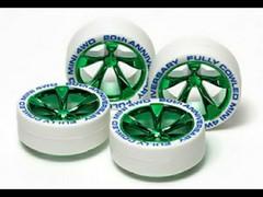 フルカウルミニ四駆20周年記念ホワイトタイヤ&緑メッキホイール