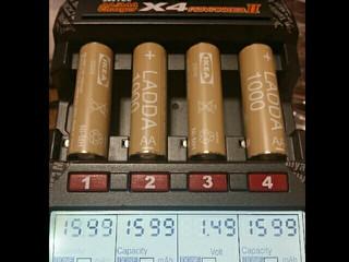 IKEA電池ブレークイン終了 (LADDA Ni-MH)