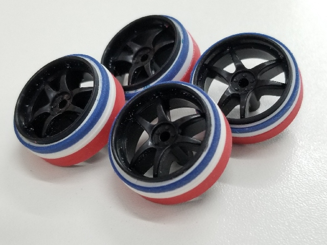 Thai flag color tires