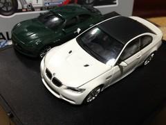 BMW E92 M3 ・maserati Ghibli ミニカー