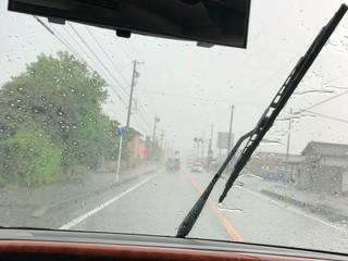 今、雨が強いから注意してください(静岡県民)