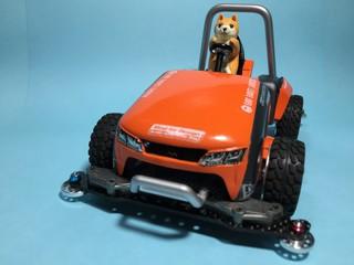 柴犬の芝刈機