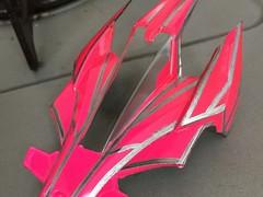アバンテmk.2 蛍光ピンク×シルバー