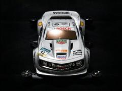 ROWDY BULL silver racing car