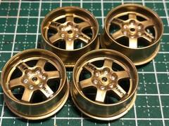 6本スポーク 大径ホイール TE37風 ゴールドカラー