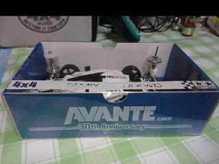 ミニ四駆ベーシックボックス (スリーブ付)アバンテJr.30周年記念ミニ四駆